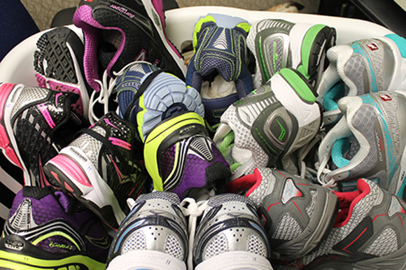 Big Peach Running Company takes your old shoes and donates them. Do it.